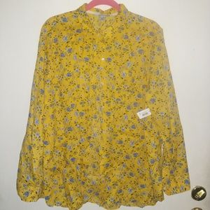 Old Navy floral button down